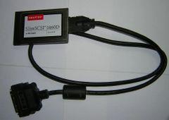 Adaptec SlimSCSI PCMCIA Fast SCSI Adapter Card 1460D + HD50 Cable High-Density
