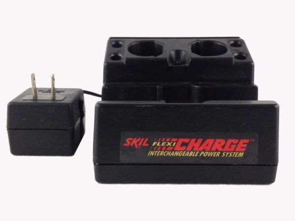 Skil Flexi-Charge System Twin 3.6V Battery Charger with Cradle for 2040 2072 2207 2211 2236 2237 2273 2454