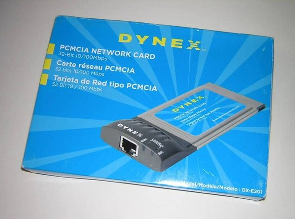 Dynex CardBus 10/100 Fast Ethernet LAN PC Card DX-E201 NEW in Box