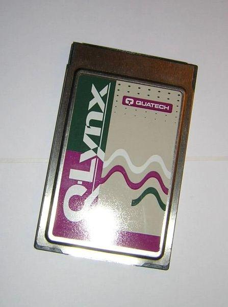 QUATECH Q-Lynx SSP-100 PCMCIA RS-232 Serial I/O PC Card