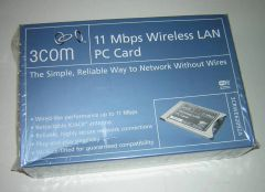 3Com PCMCIA Wireless LAN PC Card with XJACK Antenna 3CRWE62092A NEW in Box