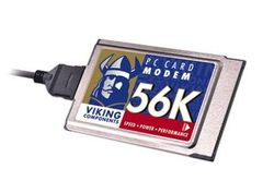 Viking 56k PCMCIA Data/Fax Modem PC Card with Dongle Cable