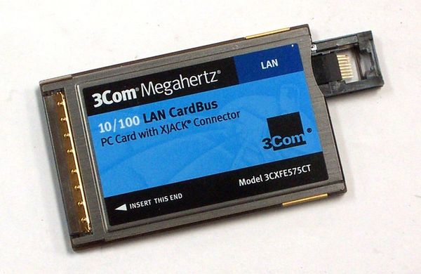 3Com 10/100 LAN CardBus Ethernet PC Card with XJACK 3CXFE575CT