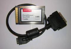 Adaptec SlimSCSI PowerDomain 1480 Ultra-SCSI CardBus PC Card + Cable Mac Apple