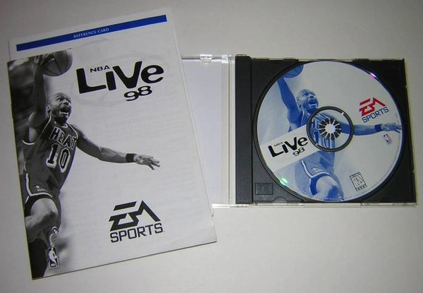 EA Sports NBA Live '98 Windows PC CD-ROM Game + User's Guide (1998)
