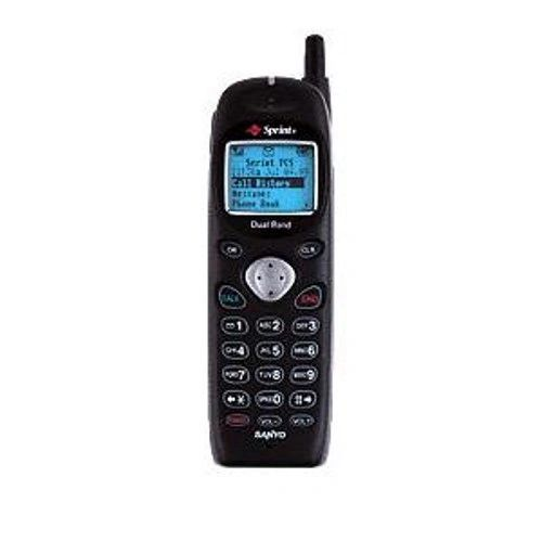 Sanyo SCP-4000 Vintage Mobile Cell Phone Sprint Black with Battery