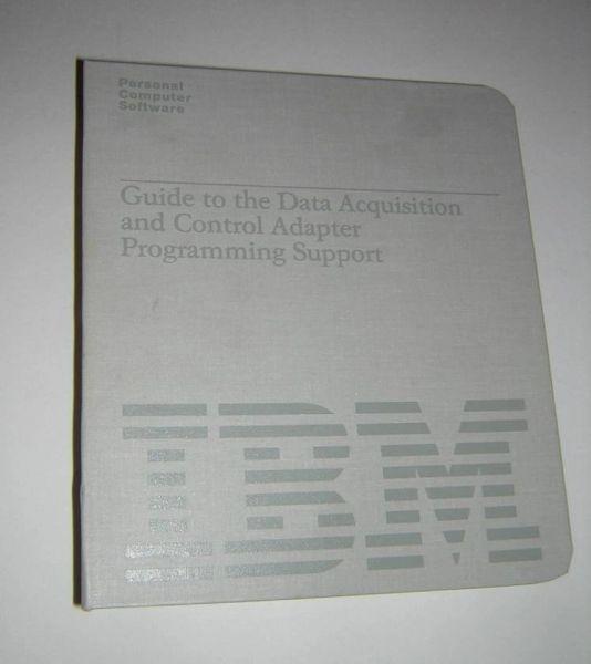 IBM PC Data Acquisition and Control Adapter DACA Original Manual +Software