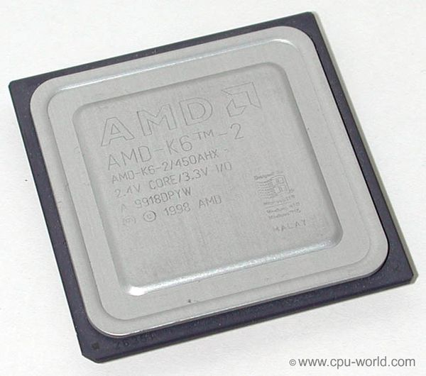 AMD K6-2/450AHX CPU 450 MHz Super Socket 7