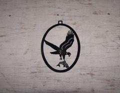 Eagle with Fish Welcome Door Hanger