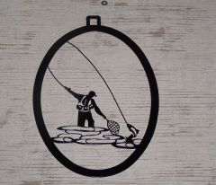 Fly Fisherman Welcome Door Hanger
