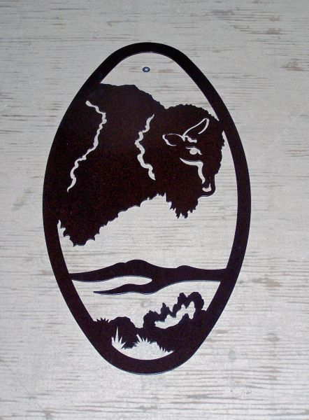 Buffalo 20'' Oval Wall Art