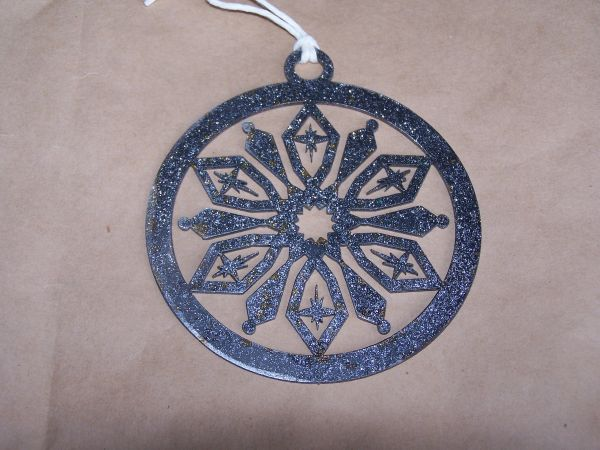 Snowflake in Circle Ornament