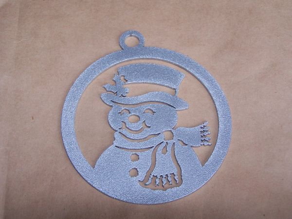 Snowman in Circle Ornament