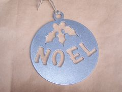 Noel in Circle Ornament