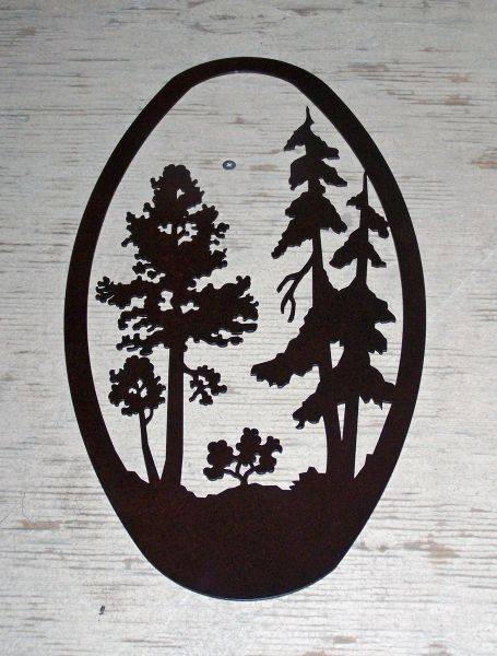 Trees 20'' Oval Wall Art