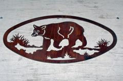 Bear 20'' Oval Wall Art