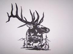 Elk with Cows