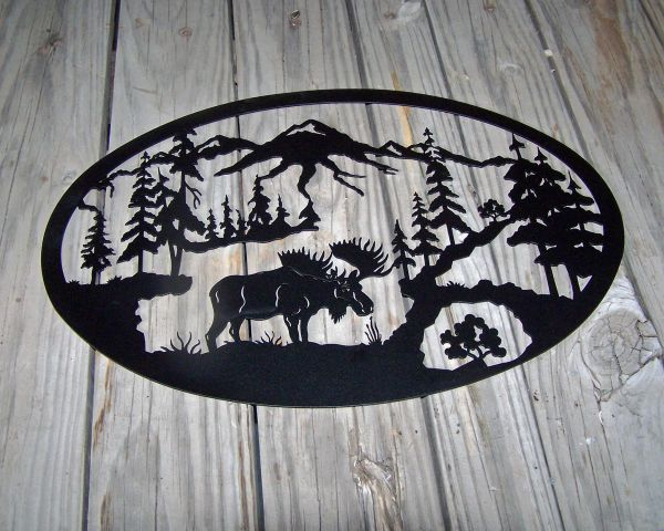 Moose Medium Oval Wall Art