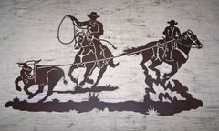 "Steer Ropers 42"" Wall Art"