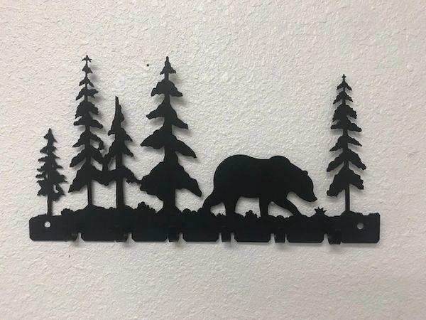Bear With Trees 6 Key Hook