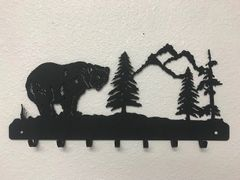 Grizzly Bear With Trees 7 Key Hook