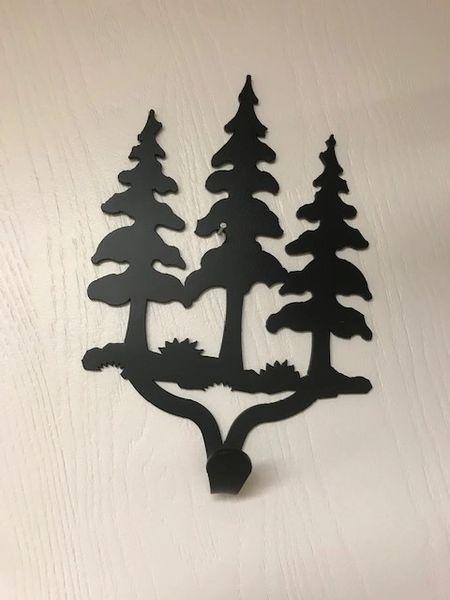 Three Large Trees Single Hook