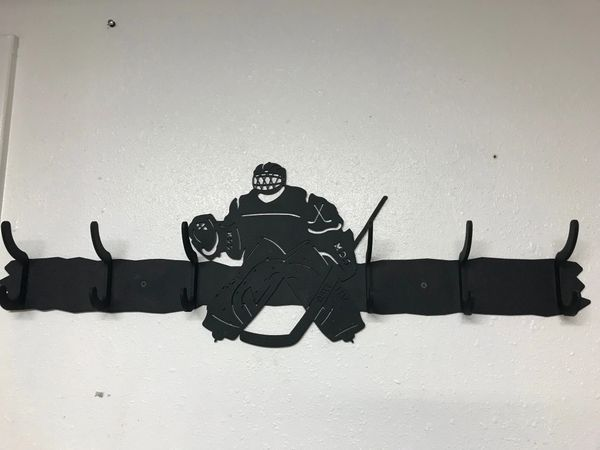 Hockey Player 6 Coat Hook