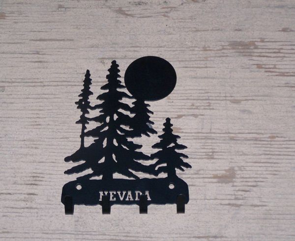 Trees with Moon 4 Key Hook