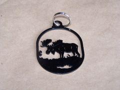 Moose Key Ring