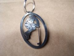 Hockey Player Key Ring