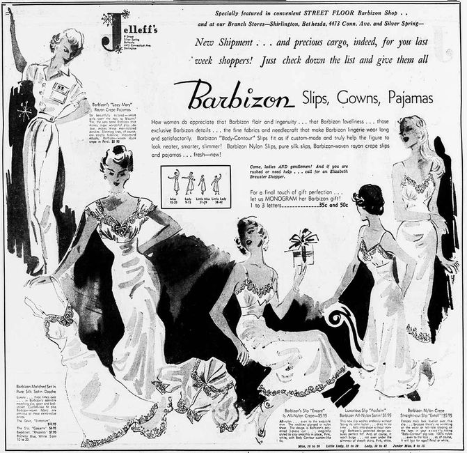 Identifying vintage Barbizon slips and petticoats.  Barbizon label dating resource.