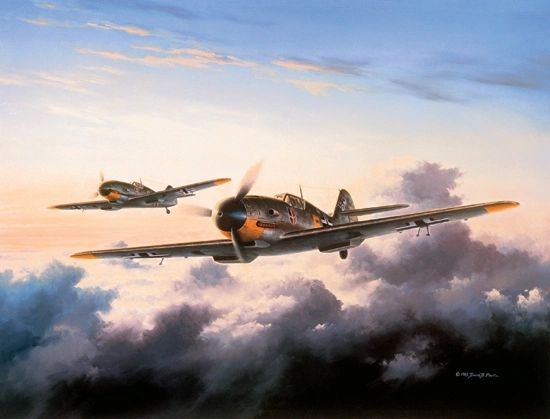 """David Poole Print, Me 109 (Bf 109) """"The Count"""""""