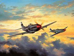"""David Poole Print, P-51 Mustang """"Combat Leaders"""""""