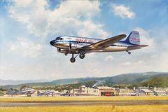 """John Young Print, DC-3 """"Heartland Express"""""""