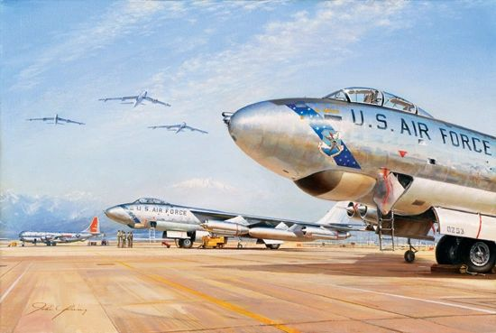 "John Young Print, B-47 Stratojet ""Cold War Warriors"" YNG-08"