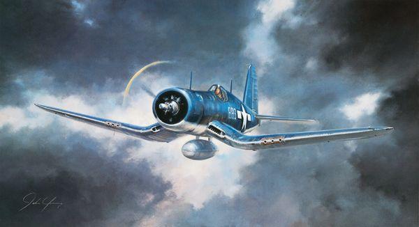"John Young Print, F4U Corsair, ""Corsair!"""