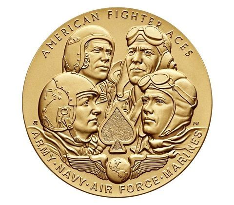 "American Fighter Aces Bronze Medal, 1.5"" USM-0104"