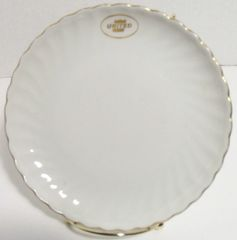 """United Airlines China, 6 1/2"""" Plates, Silhouette by Syracuse (Set of four) MIS-0112"""