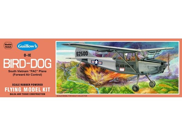 Guillow's Cessna L-19 (OE-1) Bird Dog Balsa Wood Model Airplane Kit GUI-902