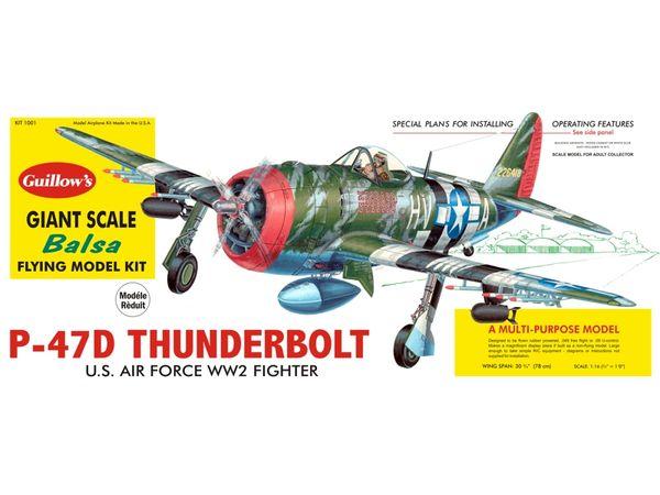 Guillow's Republic P-47 Thunderbolt Balsa Wood Model Airplane Kit GUI-1001