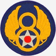 "8th Air Force Embroidered Shoulder Patch, 3"" PAT-0103"