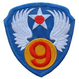 """9th Air Force Embroidered Shoulder Patch, 3"""" PAT-0104"""
