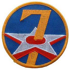 "7th Air Force Embroidered Shoulder Patch, 3"" PAT-0106"