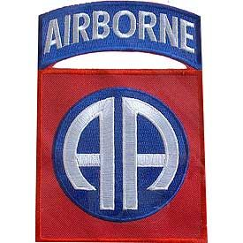 """82nd Airborne Division Embroidered Patch, 5 1/4"""" PAT-0113"""