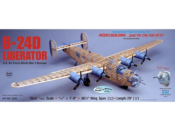 Guillow's Consolidated B-24 Liberator Balsa Wood Model Airplane Kit GUI-2003