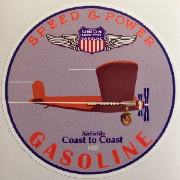 Union Aviation Gasoline Trimotor Peel & Stick Vinyl Decal DEC-0155