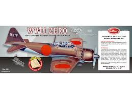 Guillow's Mitsubishi A6M Zero Balsa Wood Flying Model Kit GUI-404
