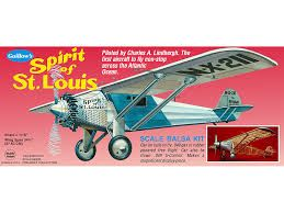 Guillow's- Spirit of St. Louis Scale Balsa Wood Flying Model Kit GUI-807