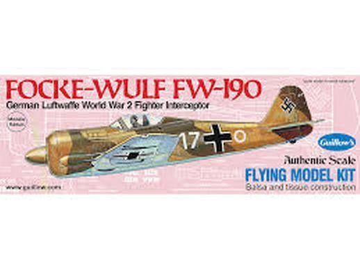 Guillow's Folke-Wulf Fw 190 Flying Balsa Wood Model Airplane Kit GUI-502