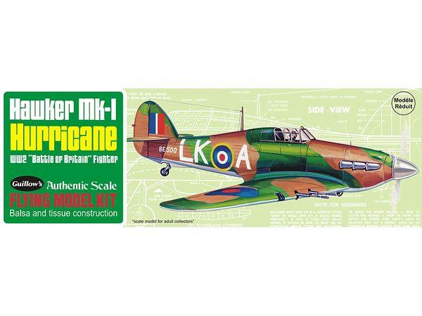 Guillow's Hawker Mk 1 Hurricane Balsa Wood Flying Model Kit GUI-506